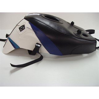Bagster Tank cover GSX 750R / GSX 1100R - black / white / periwinkle blue