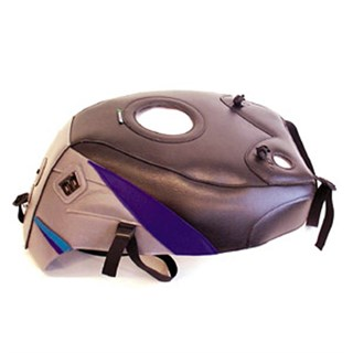 Bagster Tank cover GSX 750R / GSX 1100R - black / steel grey / purple