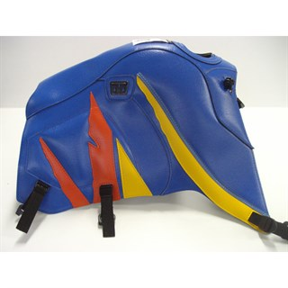 Bagster Tank cover XTZ 660 - gitane blue / yellow / orange