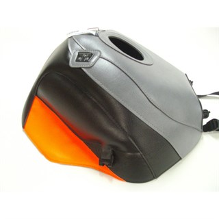 Bagster Tank cover CBR 900R - steel grey / black / fluo red