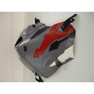 Bagster Tank cover XRV 750 AFRICA TWIN - steel grey / black / red