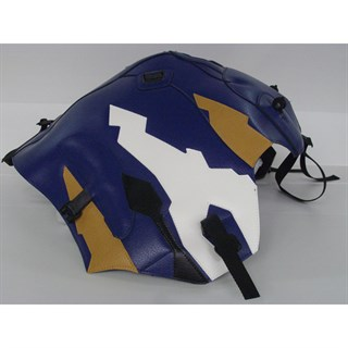 Bagster Tank cover XRV 750 AFRICA TWIN - baltic blue / havana / white / black