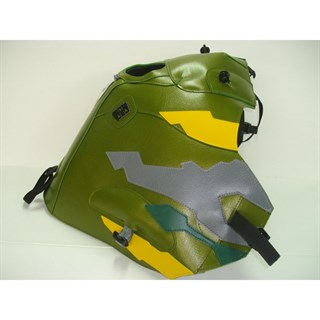 Bagster Tank cover XRV 750 AFRICA TWIN - khaki / yellow / steel grey / forest green