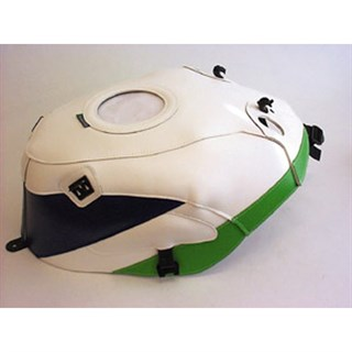 Bagster Tank cover ZXR 400 / ZXR 400 / ZX 400 - white / blue / green