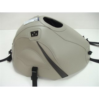 Bagster Tank cover ZZR 600 - nickel / sky grey triangle