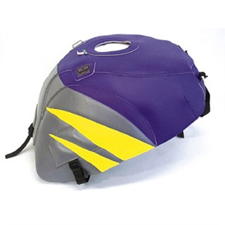 Bagster tank cover GSX 600R / GSX 750R - purple / steel grey / lemon