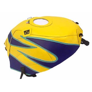 Bagster Tank cover GSX 600R / GSX 750R - yellow / china blue