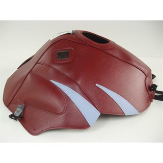 Bagster Tank cover TDM 850 - light claret / silver blue triangles