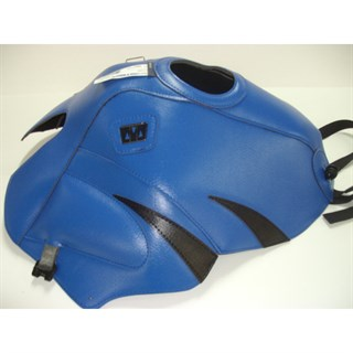 Bagster Tank cover TDM 850 - gitane blue / black triangles