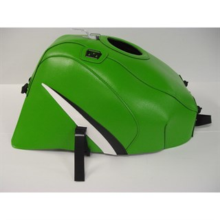Bagster Tank cover ZX 7R / ZX 7RR - green / black / white triangle
