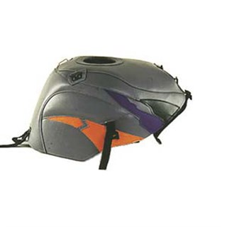 Bagster Tank cover CBR 900 - steel grey / black / dark purple / apricot