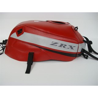 Bagster Tank cover ZRX 1100 / ZRX 1200N / ZRX 1200R / ZRX 1200S - red / light grey / black triangle