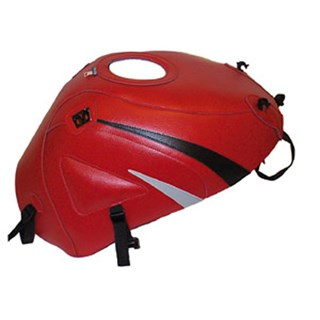 Bagster Tank cover ZX 6R - red / black triangle / grey triangle