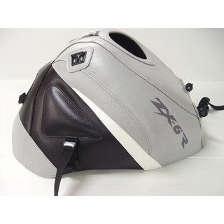 Bagster Tank cover ZX 6R - light grey / black / white triangle