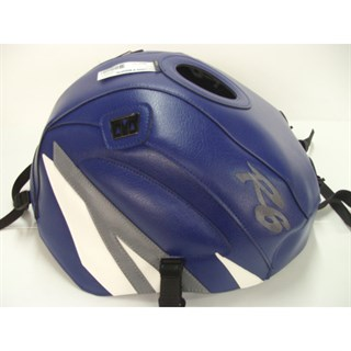 Bagster Tank cover YZF R6 - baltic blue /steel grey / white