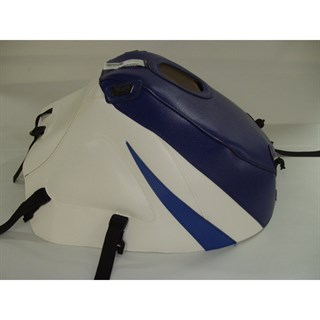 Bagster Tank cover GSX 600R / 750R / 1000R - baltic blue / white / gitane blue