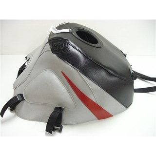 Bagster Tank cover GSX 600R / 750R / 1000R - black / light grey / red