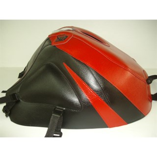 Bagster Tank cover GSX 600R / 750R / 1000R - red / black / red triangle