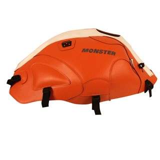 Bagster tank cover MONSTER 600 / 1000 / S4 / S2R / S4R - orange / white
