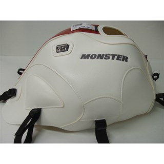 Bagster Tank cover MONSTER 600 / 1000 / S4 / S2R / S4R - white / red