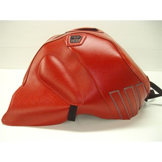 Bagster Tank cover RSV MILLE R / RSV MILLE / 1000 TUONO / 1000 TUONO RACING - red / steel grey deco
