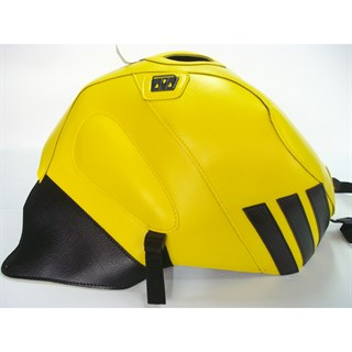 Bagster Tank cover RSV MILLE R / RSV MILLE / 1000 TUONO / 1000 TUONO RACING - buttercup yellow / black stripe