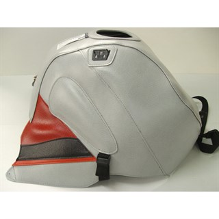 Bagster Tank cover RSV MILLE R / RSV MILLE / 1000 TUONO / 1000 TUONO RACING - light grey / red deco
