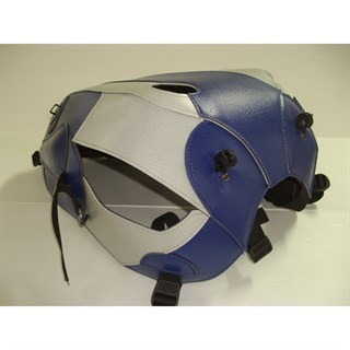 Bagster Tank cover BONNEVILLE 800 / BONNEVILLE 900 / SCRAMBLER / THRUXTON 900 - baltic blue / light grey