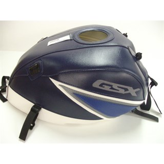 Bagster Tank cover GSX 1400 - dark blue / white / steel grey / dark blue