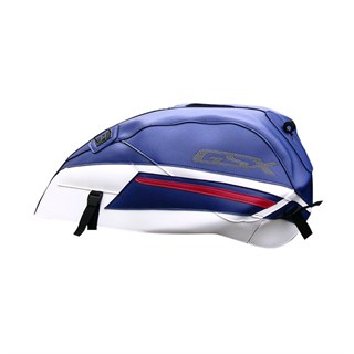 Bagster Tank cover GSX 1400 - baltic blue / white / baltic blue / red