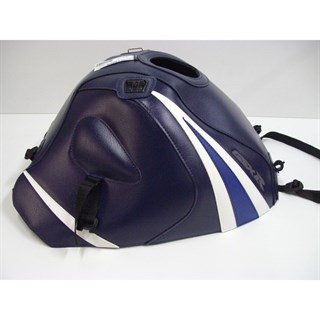 Bagster Tank cover GSX 1000R - dark blue / white / blue triangles