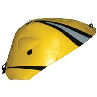 Bagster Tank cover GSX 1000R - surf yellow / black / light grey triangles