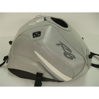 Bagster Tank cover YZF R6 - light grey / white and steel grey triangles