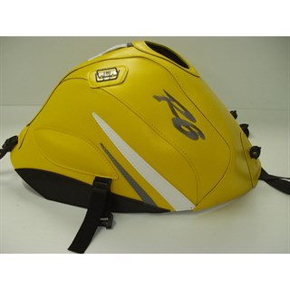 Bagster Tank cover YZF R6 - surf yellow / white and steel grey triangles