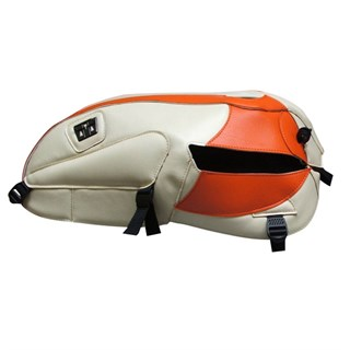 Bagster Tank cover BONNEVILLE T 100 SE - cream / orange