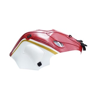 Bagster Tank cover red BREVA 1100 / BREVA 850 / NORGE 1200 / SPORT 1200 - red / white / gold piping