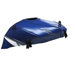 Bagster Tank cover YZF R1 - baltic blue / white and steel grey deco