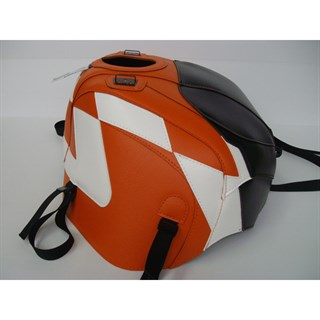 Bagster Tank cover RSV MILLE / RSV MILLE R / RSV MILLE R FACTORY / 1000 TUONO / 1000 TUONO FACTORY - black / orange / white