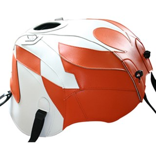 Bagster Tank cover RSV MILLE / RSV MILLE R / RSV MILLE R FACTORY / 1000 TUONO / 1000 TUONO FACTORY - white / orange