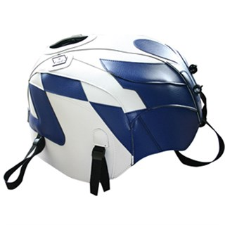 Bagster tank cover RSV MILLE / RSV MILLE R / RSV MILLE R FACTORY / 1000 TUONO / 1000 TUONO FACTORY - white / blue