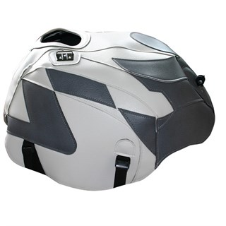 Bagster tank cover RSV MILLE / RSV MILLE R / RSV MILLE R FACTORY / 1000 TUONO / 1000 TUONO FACTORY - white / steel grey
