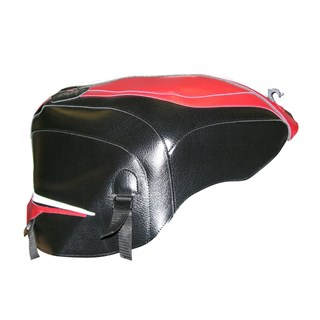 Bagster Tank cover RSV MILLE / RSV MILLE R / RSV MILLE R FACTORY / 1000 TUONO / 1000 TUONO FACTORY - white / vermillion / black