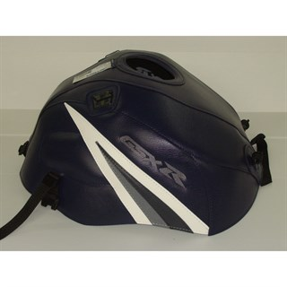 Bagster tank cover GSX 1000R - dark blue / white triangle / anthracite
