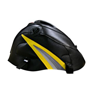 Bagster Tank cover GSX 1000R - black / surf yellow triangle / steel grey / light grey