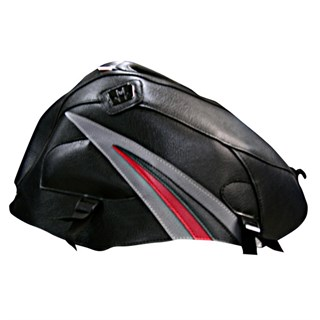 Bagster Tank cover GSX 1000R - black / steel grey triangle / anthracite / red