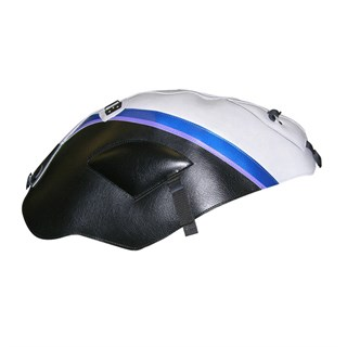 Bagster Tank cover FJR 1300 - raw / black / peraly blue stripe