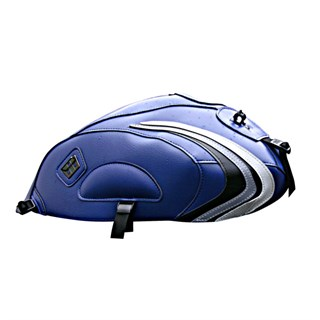 Bagster Tank cover YBR 125 - baltic blue / black / steel grey / light grey deco