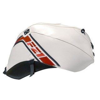 Bagster Tank cover FZ1 N FAZER - white / red / black triangles