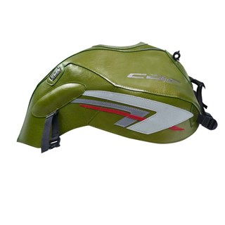 Bagster Tank cover CBF 600N (unfaired) - green / steel grey / red