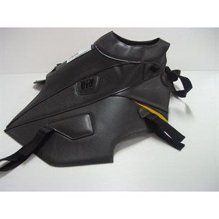 Bagster Tank cover XTZ 660 TENERE - sky grey / anthracite deco / saffron yellow piping
